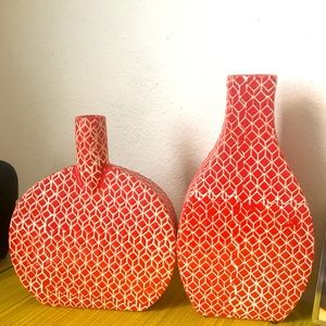 planter Grey and White  Marked EKL Studio Ceramic Vase